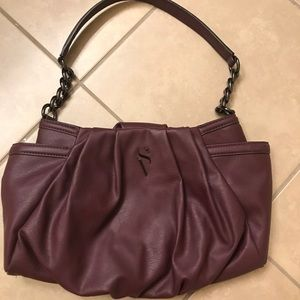 Vera wang-purple-chain strap purse